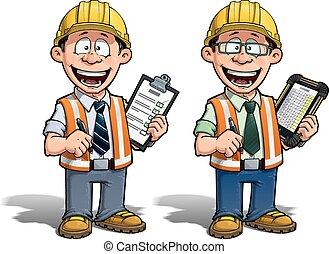 -, プロジェクト, 建築作業員, manag