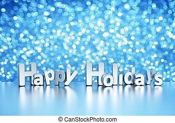 -, ホリデー, 背景, きらめき, クリスマス, 幸せ