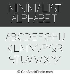-, ミニマリスト, 壷, デザイン, アルファベット