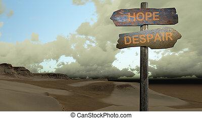-, 希望, 絶望