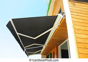 -, 窓。, protection., 太陽, 陰, 垂直に, カーテン, カーテン, 太陽, 人気が高い, 陰
