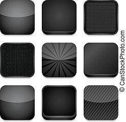 -, 黒, app, アイコン