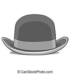 1(人・つ), 帽子, ダービー