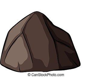 1(人・つ), 灰色, 岩