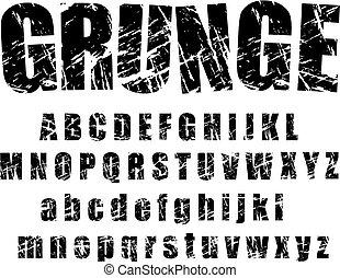1, アルファベット, -, グランジ