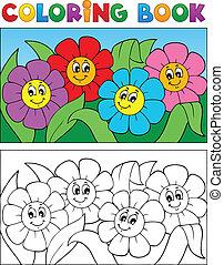 1, 主題, 着色 本, 花