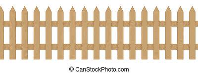 1, 木製のフェンス