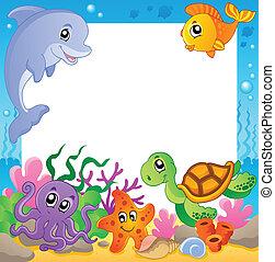 1, 水中, フレーム, 動物