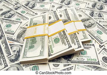 10, お金, 千, ドル, 背景, 山