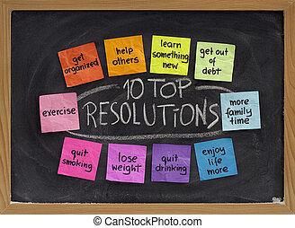 10, 上, resolutions, 新年