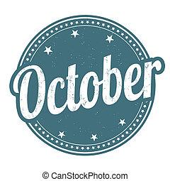 10 月, 切手