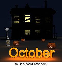 10 月, stickman