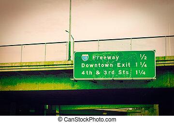 10, 高速道路の印, ダウンタウン los アンヘレス