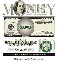 100 ドル札, 要素
