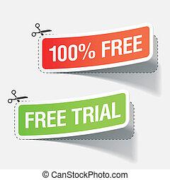 100%, 裁判, ラベル, 無料で