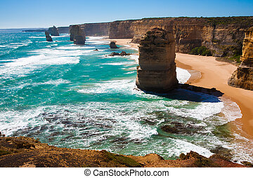 12, 偉人, オーストラリア, 道, 使徒, 海洋, ビクトリア