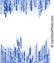 2進符号, データ, ディスプレイ, 流れること