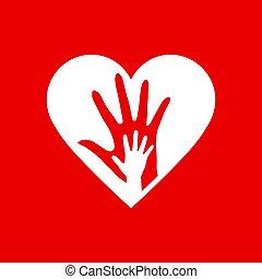 2, 心, 手