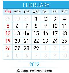 2 月, カレンダー