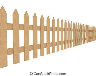2, 木製のフェンス