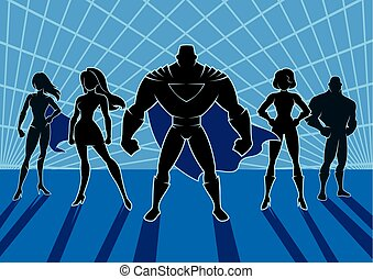 2, superhero, チーム
