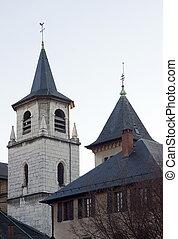 25, 12月, -, フランス, france., chambery, 教会, :, 2011