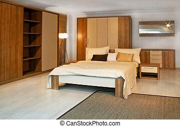 3, 寝室, 木製である