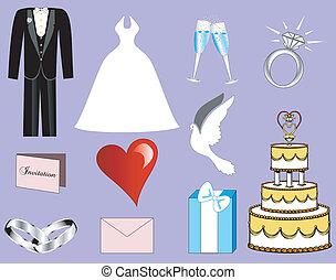 3, 結婚式, アイコン