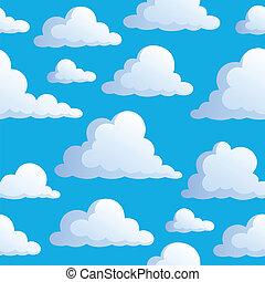 3, 雲, seamless, 背景