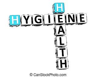 3d, クロスワードパズル, 衛生, 健康