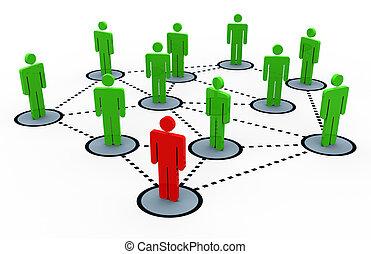 3d, ネットワーク, 社会