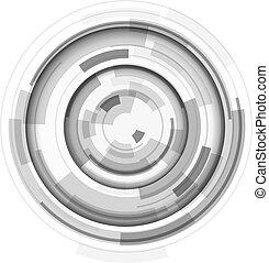 3d, レンズ, デザイン, 技術, シンボル, 抽象的, 円