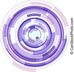 3d, 技術, 円, シンボル, 抽象的, レンズ, デザイン