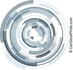 3d, 抽象的, レンズ, 円, シンボル, デザイン, 技術