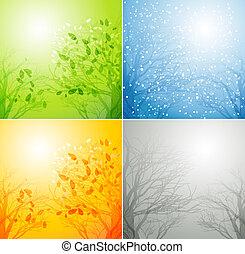 4つの季節, 別, 木