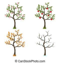 4つの季節, 芸術, 木