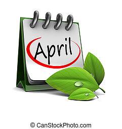 4 月, カレンダー