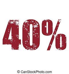 40%, 切手