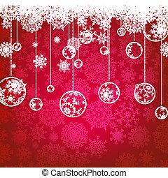 8, holiday., 冬, カード, eps, クリスマス