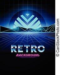 80 年代, デジタルバックグラウンド, レトロ