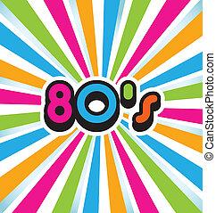 80s, ベクトル, 芸術, ポンとはじけなさい, 背景