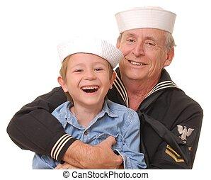 9, 船員, 息子