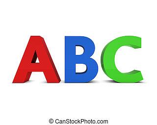 abc, 印