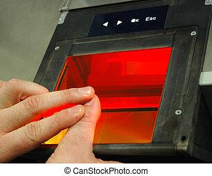 (afis), 指紋, 同一証明, 自動化された, システム