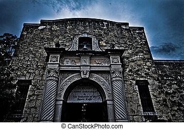 alamo, 歴史的, san, テキサス, antonio