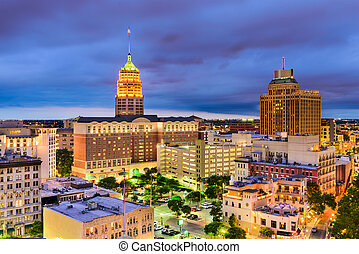antonio, 都市の景観, テキサス, san