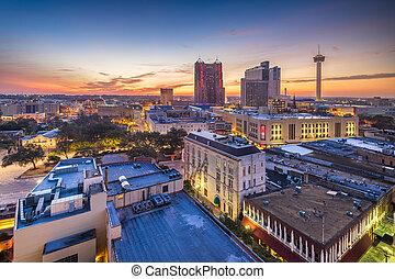 antonio, san, スカイライン, テキサス, アメリカ