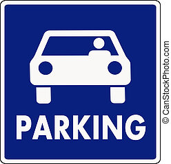 autocar, 駐車場サイン