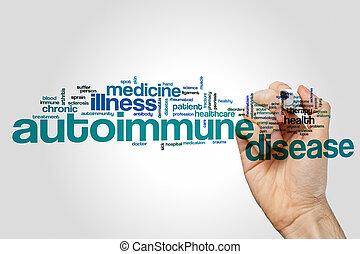 autoimmune, 単語, 病気, 雲