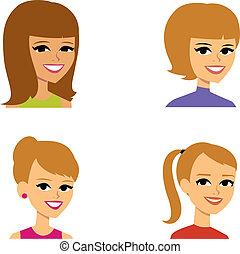 avatar, 女性, 漫画, 肖像画の実例